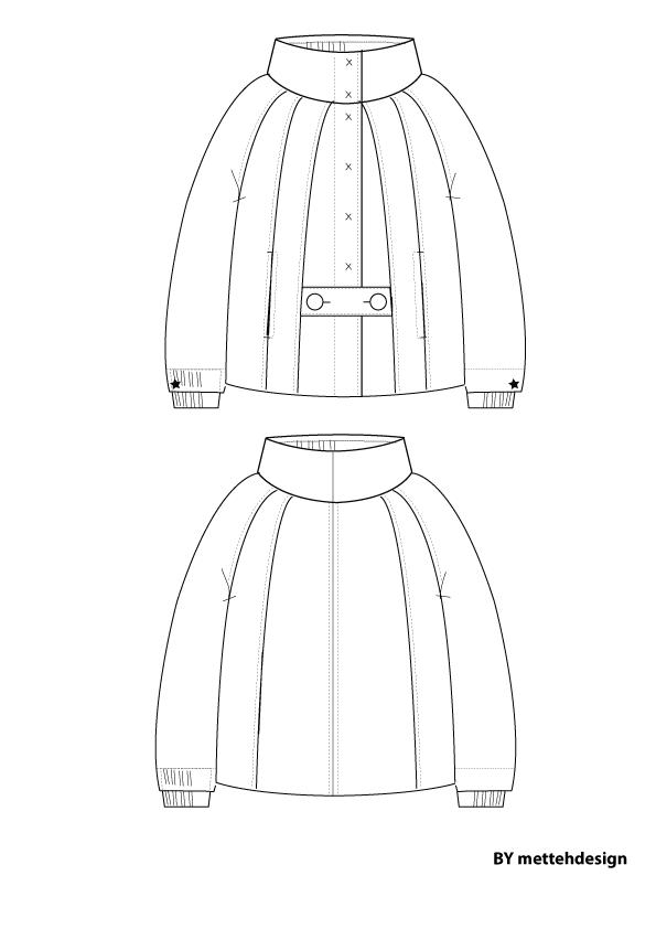 Cape jakke. Cape Style Jacket by mettehdesign
