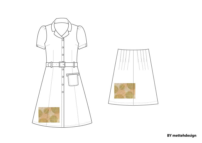 Vævet kjole og skørt. Woven Dress and Skirt by mettehdesign