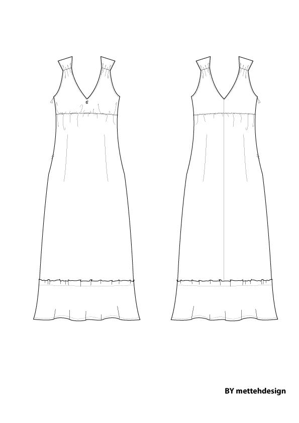 Lang kjole. Long Dress by mettehdesign