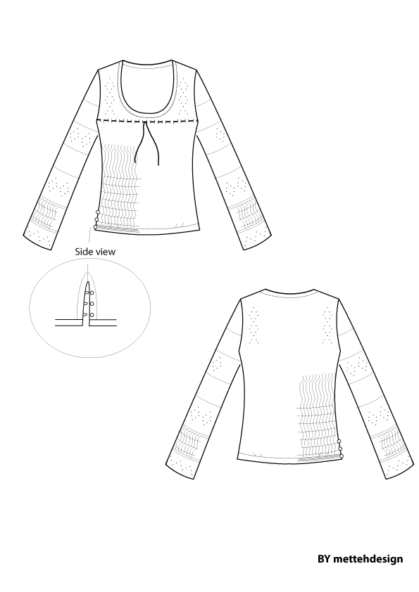 Fin strik. Fine Knit by mettehdesign