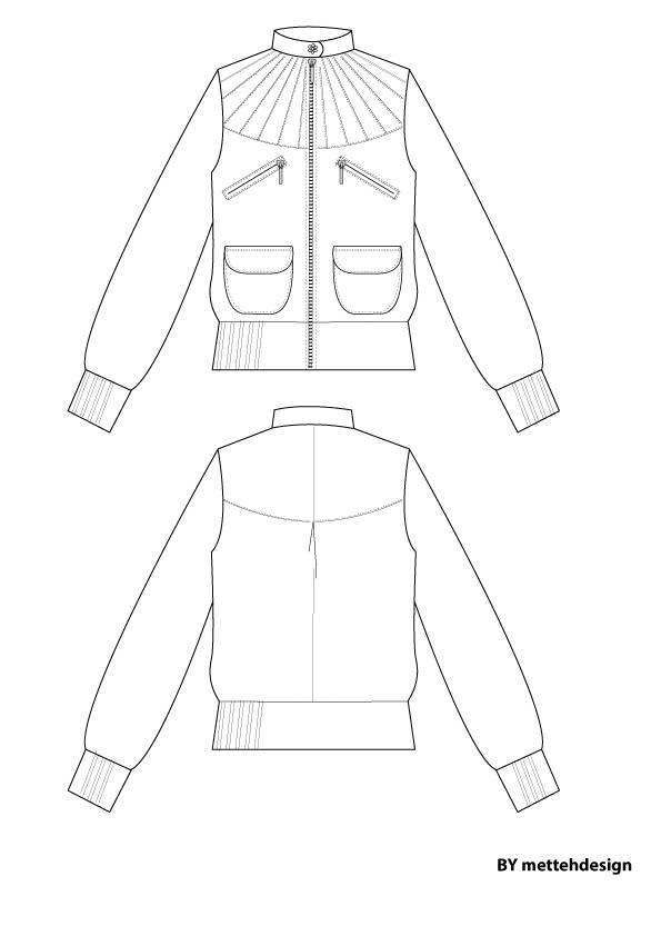 Short Jacket Tweed by mettehdesign