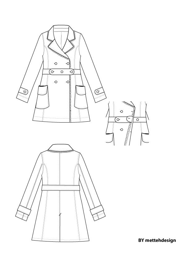 Trench Coat by Mettehdesign